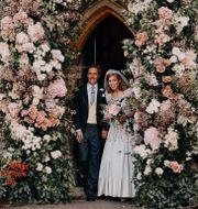 Ett av parets två offentliga bröllopsfotografier.  Benjamin Wheeler / TT NYHETSBYRÅN