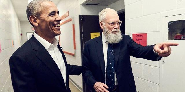 Barack Obama och David Letterman.  Netflix