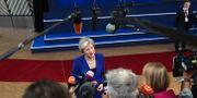 Theresa May möter pressen inför EU-mötet 18 oktober Francisco Seco / TT NYHETSBYRÅN/ NTB Scanpix