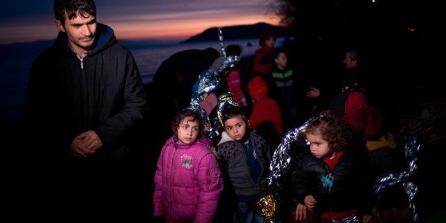 Flyktingar från Afghanistan på Lesbos ALKIS KONSTANTINIDIS / TT NYHETSBYRÅN