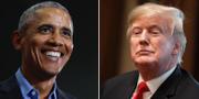 USA:s före detta president Barack Obama och nuvarande Donald Trump  TT