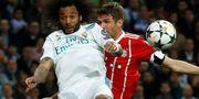 Bild från matchen mellan Real Madrid och Bayern München. JUAN MEDINA / TT NYHETSBYRÅN