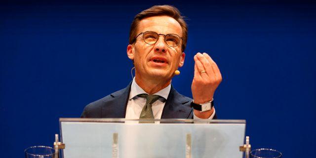 Ulf Kristersson (M) har skrivit ett brev till FN för att få svar på sina frågor. Linn Malmén/TT / TT NYHETSBYRÅN