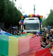 Prideparad i Ungern 2018 Imre Foldi / TT NYHETSBYRÅN