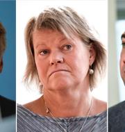 Per Bolund (V), Ulla Andersson (V) och Roger Haddad (L). TT