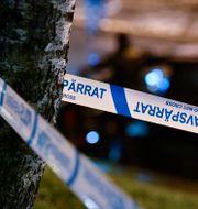 Polisavspärrningar. Johan Nilsson/TT / TT NYHETSBYRÅN