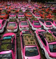 Stillastående taxibilar i Bangkok, Thailand Sakchai Lalit / TT NYHETSBYRÅN