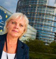 Arkivbild: Kristina Winberg utanför EU-parlamentet i Strasbourg FREDRIK PERSSON / TT / TT NYHETSBYRÅN