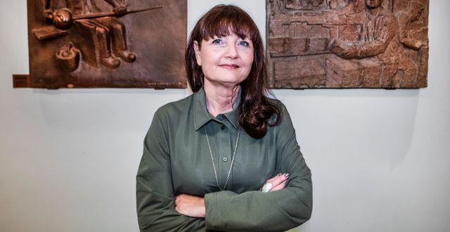 Marie Nilsson, ordförande IF Metall.  Tomas Oneborg/SvD/TT / TT NYHETSBYRÅN