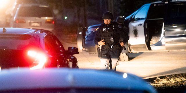 Amerikansk polis/arkivbild.  Noah Berger / TT NYHETSBYRÅN