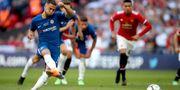 Eden Hazard rullar in 1–0. Nick Potts / TT NYHETSBYRÅN