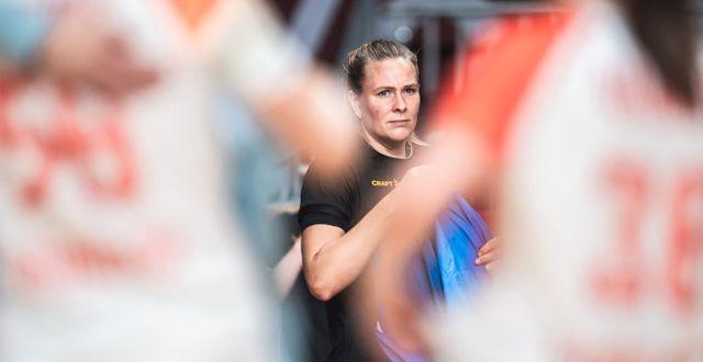 Johanna Westberg besviken efter matchen. JON OLAV NESVOLD / BILDBYRÅN
