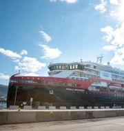 Fartyget MS Roald Amundsen. Terje Pedersen / TT NYHETSBYRÅN