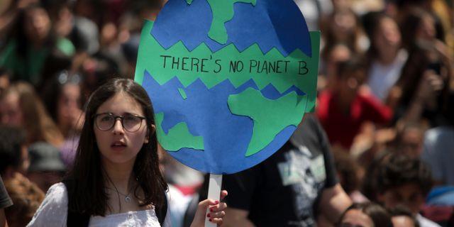 Klimatprotest i Portugal.  Armando Franca / TT NYHETSBYRÅN/ NTB Scanpix