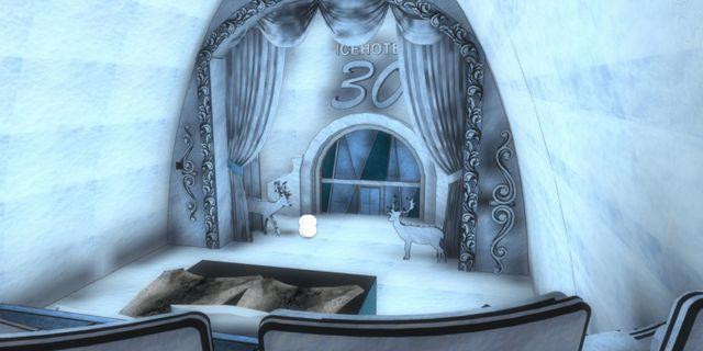 """Sviten """"A night at the theatre"""" av brittiska Jonathan och Marie Green är inspirerad av teatrarna i Londons West End. Icehotel"""