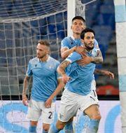 Lazios Luis Alberto firar mål mot Bologna i förra veckan.  Fabrizio Corradetti / TT NYHETSBYRÅN