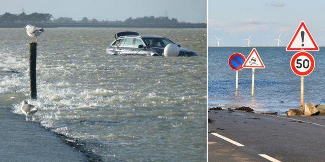 Passage du Gois försvinner under vatten två gånger om dagen. Tripadvisor / Wikicommons