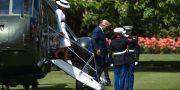 Donald och Melania Trump inför ett besök hos Buckingham Palace. MANDEL NGAN / AFP