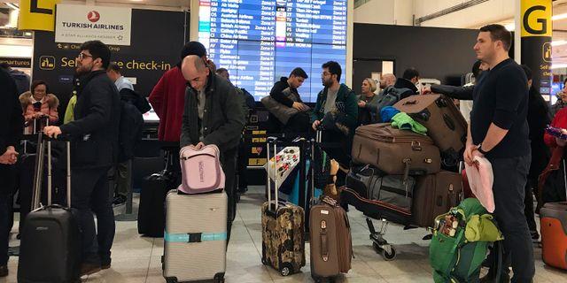 Över 1000 flyg ställdes in den 19 och 20 december. Kirsty Wigglesworth / TT NYHETSBYRÅN/ NTB Scanpix