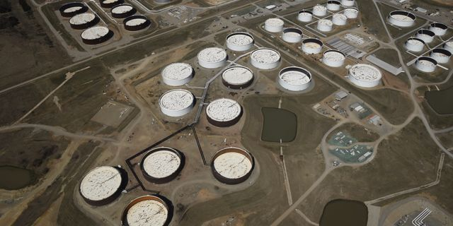 Minskade oljelager i usa