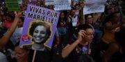 En affisch med Marielle Franco under en demonstration på Internationella kvinnodagen förra veckan.  NELSON ALMEIDA / AFP