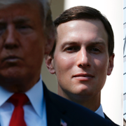 Jared Kushner bakom Donald Trumps.