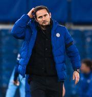 Frank Lampard efter gårdagens förlust mot Manchester City. Andy Rain / TT NYHETSBYRÅN