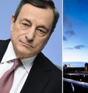 Mario Draghi och ECB. TT.