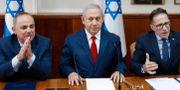Benjamin Netanyahu, mitten. Abir Sultan / TT NYHETSBYRÅN