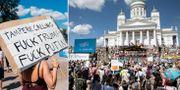 Demonstration i Helsingfors. TT