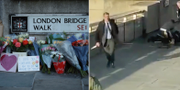 Darryn Frost med narvalsbeten på London Bridge. TT