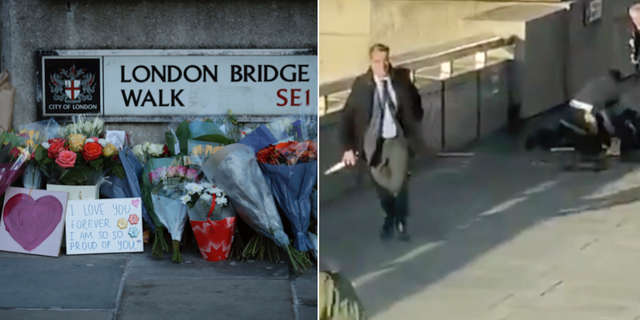 Darryn Frost med narvalsbeten på London Bridge. TT