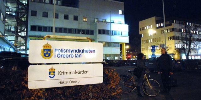 Polishuset i Örebro/Arkivbild. Conny Sillén / TT / TT NYHETSBYRÅN