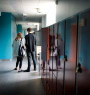 Skolkorridor.  JESSICA GOW / TT / TT NYHETSBYRÅN