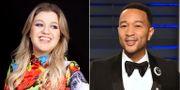 """Kelly Clarkson och John Legend har gjort en nyinspelning av """"Baby, it's cold outside"""". TT NYHETSBYRÅN"""