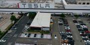 Teslas fabrik i Fremont. JUSTIN SULLIVAN / TT NYHETSBYRÅN