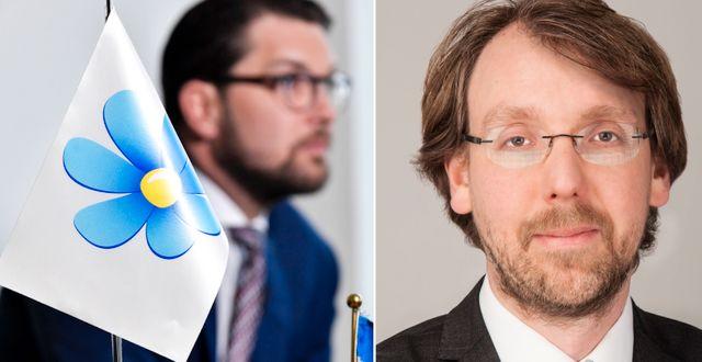 Andreas Johansson Heinö  till höger  TT/Timbro