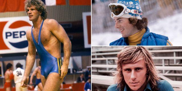 Arkivbilder: Frank Andersson, Ingemar Stenmark och Björn Borg.  TT.