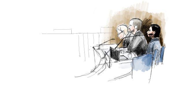 Teckning från rättegången Ingela Landström/TT / TT NYHETSBYRÅN