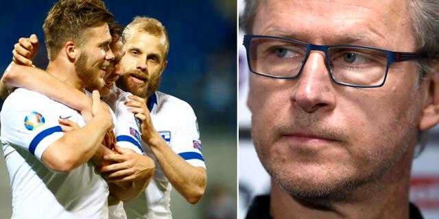 Finlands Benjamin Kallman och Teemu Pukki/Markku Kanerva Bildbyrån