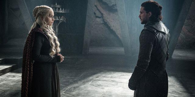 Daenerys Targaryen och Jon Snow. Helen Sloan / TT NYHETSBYRÅN/ NTB Scanpix