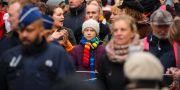 Greta Thunberg på en klimatdemonstration. Arkivbild. Olivier Matthys / TT NYHETSBYRÅN