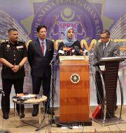 Malaysias antikorruptionskommission under en presskonferens angående 1MDB-fallet, arkivbild.  Vincent Thian / TT NYHETSBYRÅN/ NTB Scanpix
