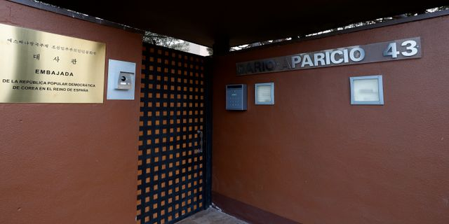 Nordkoreas ambassad i Madrid. Manu Fernandez / TT NYHETSBYRÅN/ NTB Scanpix