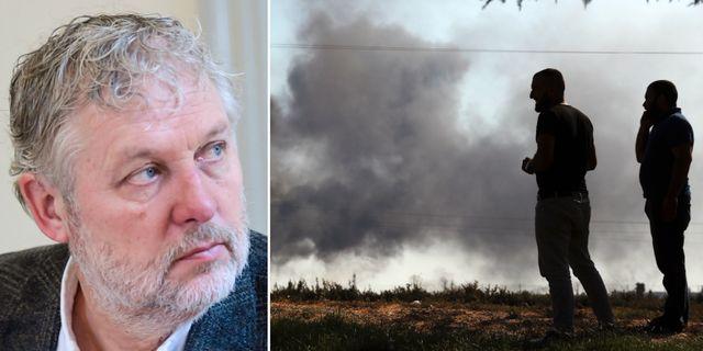 Peter Eriksson/gränsen mellan Turkiet och Syrien.  TT.