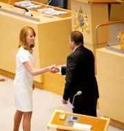 Centerns partiledare Annie Lööf (C) och statsminister Stefan Löfven (S) Christine Olsson/TT / TT NYHETSBYRÅN