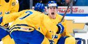 Lias Andersson efter sitt mål mot USA i seminfinalen. Nathan Denette / TT NYHETSBYRÅN