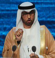 Sultan Ahmed al-Jaber, företrädare för regeringen och vd på det statliga oljebolaget Adnoc.  Kamran Jebreili / TT NYHETSBYRÅN