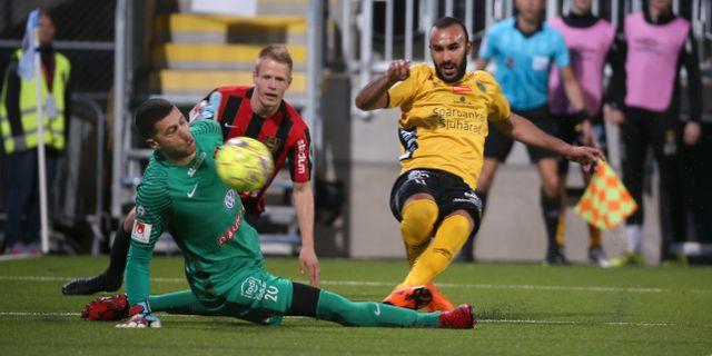Issam Jebali gör 1–0. Sören Andersson/TT / TT NYHETSBYRÅN