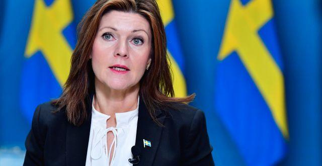 Arbetsmarknadsminister Eva Nordmark (S). Jonas Ekströmer/TT / TT NYHETSBYRÅN
